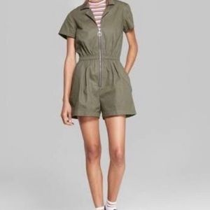 Wild Fable Army Green Romper